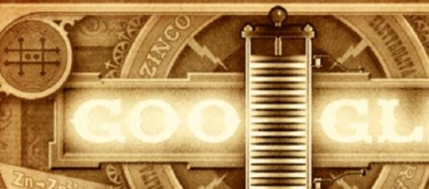 Doodle homenaje al inventor de la pila eléctrica