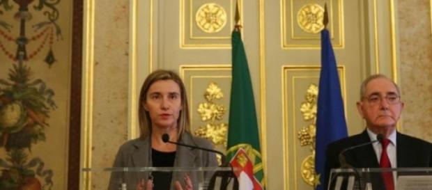 Federica Mogherini e Rui Machete