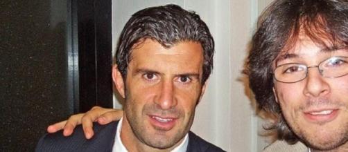 Luis Figo (left) unveiled his Fifa president ideas