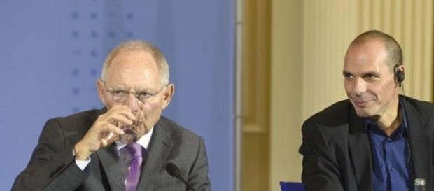 Schäuble y Varoufakis en una reunión
