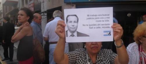 El entierro de Nisman ha provocado protestas