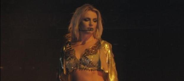 Britney Spears durante una actuación en Toronto