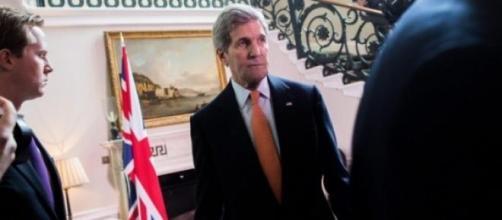 John Kerry num discurso sobre a Rússia