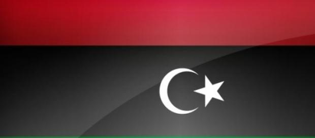 Flag of Libya that was used after Gaddafis fall