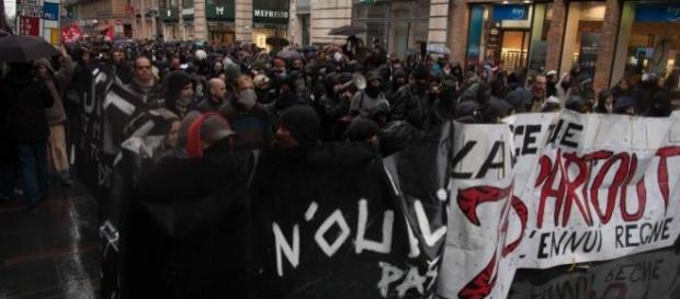 La foule de manifestants toulousains