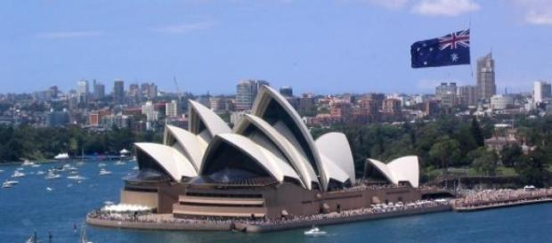Sydney, maior cidade da Austrália.