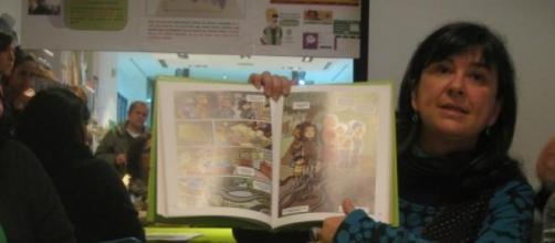 Cristina Durán presentando 'Viñetas de vida'
