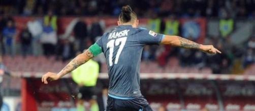 Marek Hamsik centrocampista del Napoli