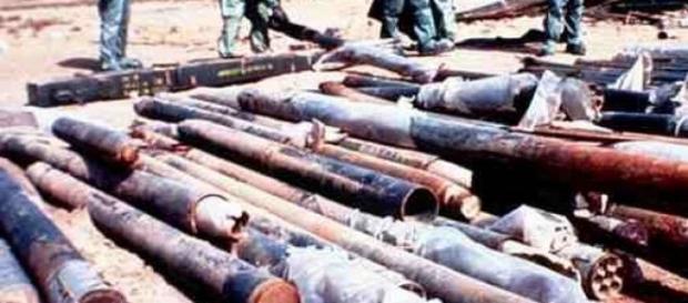 Des munitions de  récupèration avant destruction.
