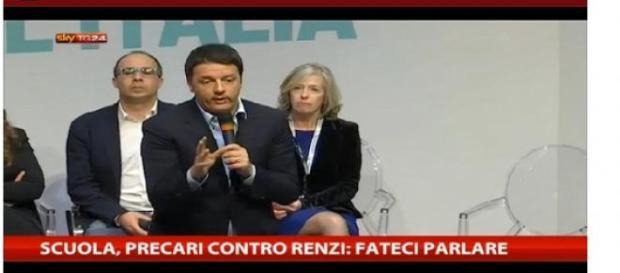 La conferenza stampa sulla riforma della scuola