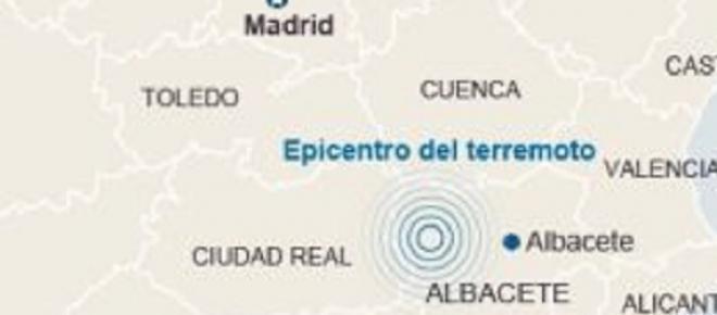 Lugares afectados por el terremoto con epicentro en Albacete