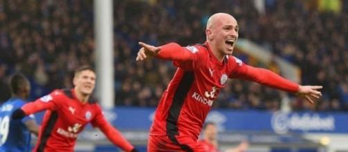 Esteban Cambiasso scored for Leicester City