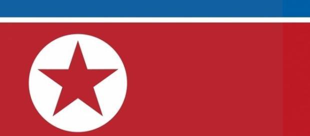 Bandera de Corea del Norte.