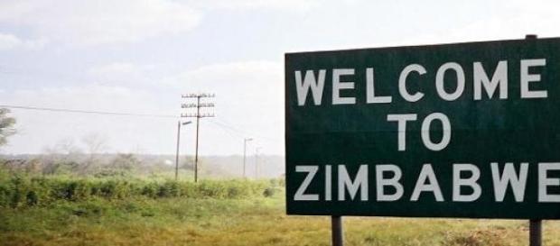 Cartello benvenuti in Zimbabwe