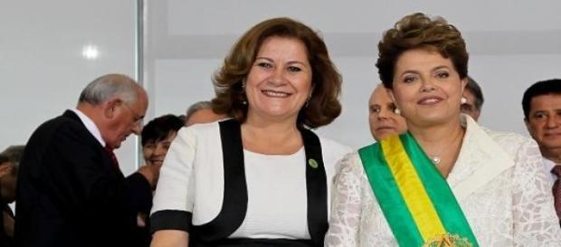 Miriam Belchior e Dilma Rousseff