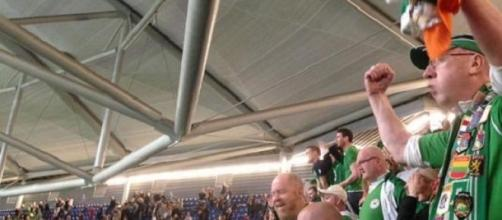 Irish fans were celebrating once more against UAE
