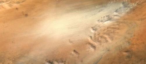 Tormenta de arena en la Depresión de Bodele