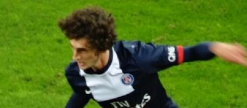 Adrien Rabiot in azione con il Psg.