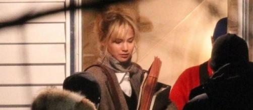 "Jennifer Lawrence en el rodaje de ""Joy"""