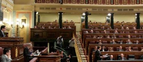 Jugando en el Congreso de los Diputados