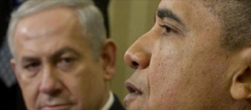 Netanyahu and Obama during an official meeting