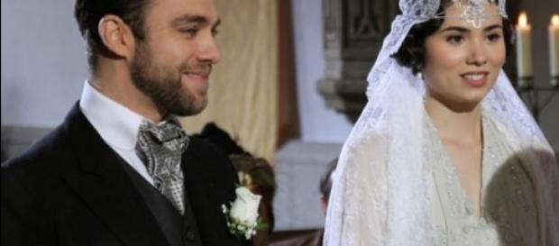 Maria il giorno del matrimonio