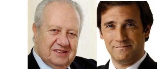 Mário Soares e Pedro Passos Coelho