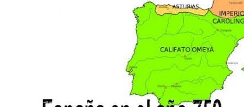 Peninsula iberica en el año 750