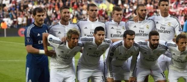 Equipo titular del Real Madrid.