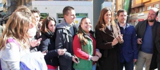La alcaldesa Romero en la inauguración Wifi 5G