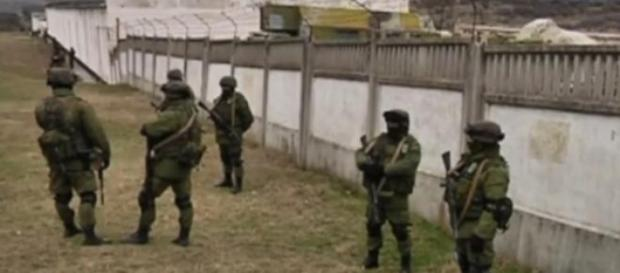 Rosyjscy żołnierze na półwyspie.