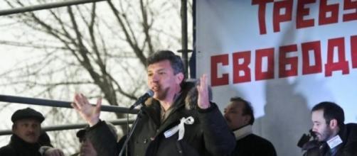 Nemtsov en un mitin en Rusia