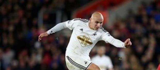 Jonjo Shelvey, 22, scored Swansea City's winner