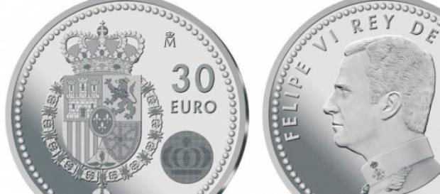 Monedas con la cara de Felipe VI