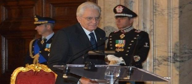 Sergio Mattarella no Palácio do Quirinal