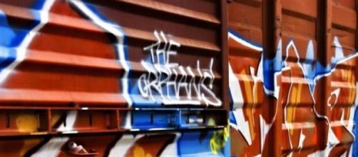 Arte de expressão livre: grafite papel de parede