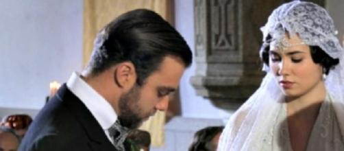Fernando e Maria il giorno delle nozze.