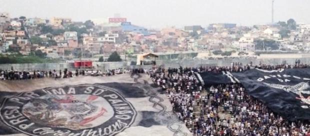 Arena Corinthians durante a partida