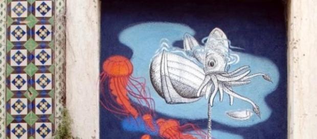 Peixe e Arte nas ruas de Sesimbra