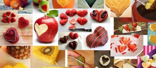 Idee per san Valentino, frutta a forma di cuore
