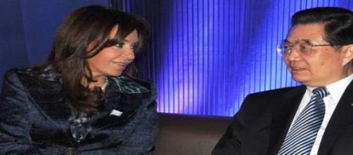 Los Presidentes de Argentina y China reunidos.