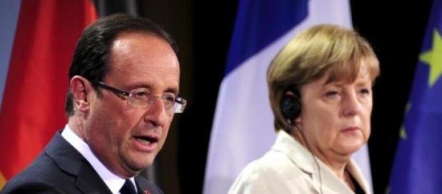Francois Hollande et Angela Merkel.