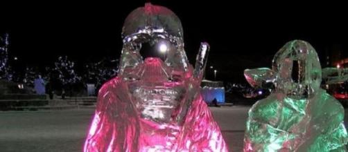 Ice sculptures can be works of modern art