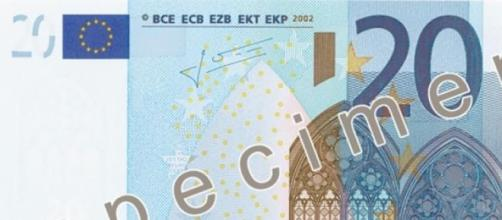 Imagen de billete de 20 euros