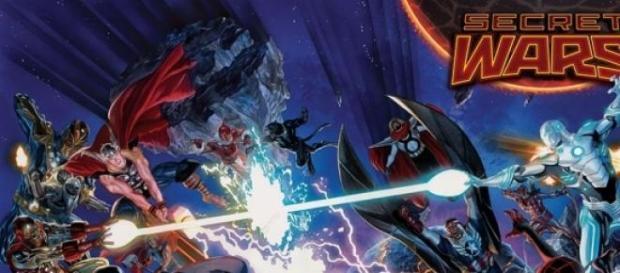 L'affiche de Secret Wars, par Alex Ross.