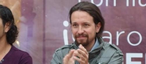 Pablo Iglesias durante un mitin de Podemos