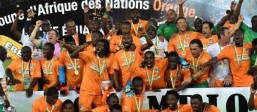 La Ivoiriens célèbrent leur victoire !