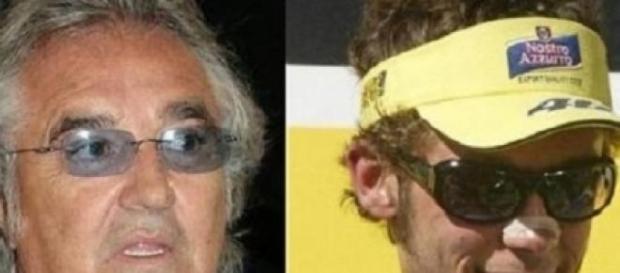 Rossi, Flavio Briatore e Valentino