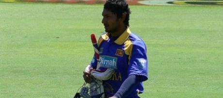 Sangakkara scored a 70-ball century in the match