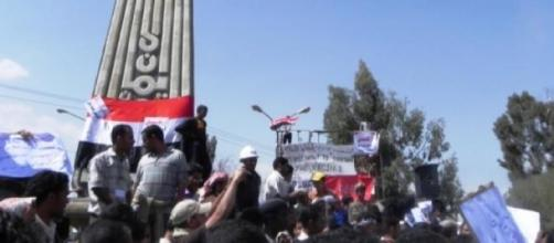 Houthi protesters in Sanaa